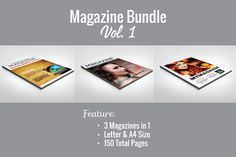 Magazine Template Bundle by Grapics Studios on @creativemarket