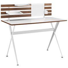 Modway Furniture Modern Knack Wood Office Small Writing Desk
