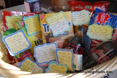 Baby Daddy gift basket with printable tags