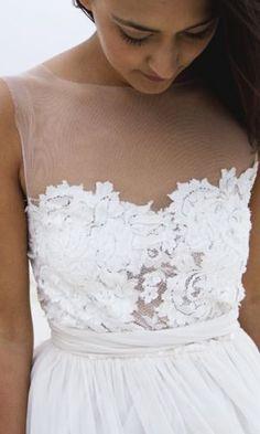 Boho lace wedding dress boho bride beach bride Loren