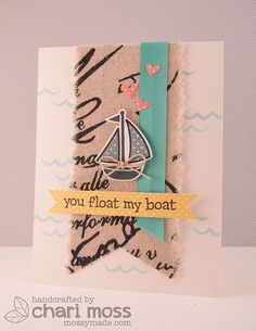 Float My Boat: Made using Lawn Fawn Float my boat stamps and dies along with May Arts ribbon. @Lawn Fawn