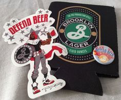 Brooklyn Brewery Cozy Sticker Pin Defender Beer Lager Swag NYCC Exclusive Lot | eBay