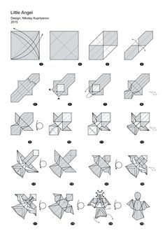 origami instructions in english origami birds art ideas and diy rh pinterest com Origami Star Diagram fallen angel origami diagram