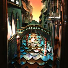 Tiffany's window displays in paper cut-outs. NYC.