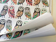 inaluxe: owls wrapping paper
