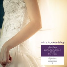 Win a #100kwedding of your dreams today! Find out more and enter at:   http://apps.facebook.com/weddingofthecentury/contests/330642