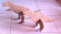 Cardboard Dinosaurs – Stand-up Dinosaur Toys #createrecycle