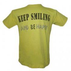 Yellow Men Cool Slogan T-Shirt