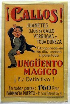 ORIGINAL CARTEL DE ESCAPARATE. AÑOS 40. UNGUENTO MAGICO. ENVIO CERTIFICADO INCLUIDO. - Foto 1 Nostalgia, Books, Medicine, Old Ads, Retro Ads, Vintage Ads, Old Advertisements, Vintage Posters, Vintage Posters