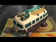 VW Bulli T1 - Torte dekorieren mit Fondant - Mademoiselle Cupcake - YouTube
