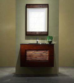 Xylem Bambu Wall Mount Bathroom Vanity #zen #spabathroom #asian #decor