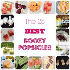 The 25 Best Boozy Popsicles - http://www.52kitchenadventures.com/2013/07/22/best-boozy-cocktail-popsicles/?utm_campaign=coschedule&utm_source=pinterest&utm_medium=Creekstone