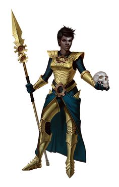 Tanagoran (or possibly Nuari). in 'Thyatia' (Thyatis, Empire of) or dominion/territory of Thyatis (Empire of) area(s)/region(s) [Female Cleric of the machine goddess - Pathfinder PFRPG DND D&D fantasy] Female Character Concept, Fantasy Character Design, Character Design Inspiration, Character Art, Character Ideas, Black Characters, Dnd Characters, Fantasy Characters, Female Characters