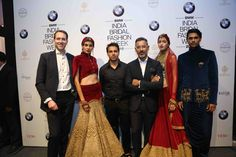 Mr. Frank Schloder, Director Marketing, BMW Group India, Shantanu Nikhil  Shantanu & Nikhil presented 'The Mahal' collection at the BMW Indian Bridal Fashion Week. This collection brings a sense of devine royalty and glamour. It was inspired by the Taj Mahal's strong and eye capturing architecture the mesmerizes all. The amazing collection utilizes Swarovski crystals that add to the royal feeling of the clothing making it more ravisihing!