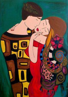 pintura em tela, Casal