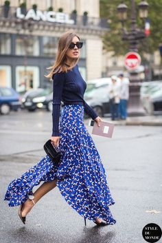 parisian style Summer Street Style Looks to Copy Now Fashion Mode, Look Fashion, Spring Fashion, Fashion Trends, Street Fashion, Skirt Fashion, Fashion Details, Fashion Clothes, Womens Fashion