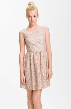 French Connection 'Fast Twinkle' Metallic Lace Dress   #Nordstrom #falltrends