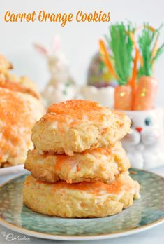Celebrate spring with a carrot sweet! Carrot Orange Cookies are light, tender and melt in your mouth!
