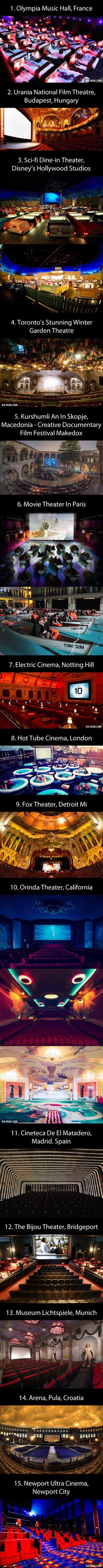 Chad and I have a goal. This. This is our goal. 15 Of The Most Beautiful Cinemas Around The World