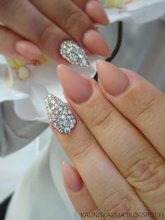 Diamond Nude Nail design nail art