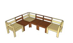 Outdoor sectional plans | HowToSpecialist - How to Build, Step by Step DIY Plans