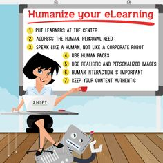 The How to Humanize #eLearning Infographic provides useful tips that can help you humanize your content in order to resonate with your learners.
