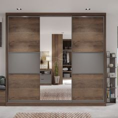 """""""Furniture which perfectly matches every look of your house."""" Sliding wardrobes that convey an elegant and sleek characteristic to any bedroom or personal enclave. Bespoke Metro Wardrobes sliding door styles make the most of every inch of space, from floor to ceiling and always at a price to suit most pockets. For more information you can also call us at 07985355647 You can also book a free design visit today on metrowardrobes.co.uk/book-free-wardrobe-design-visit/ Sliding Mirror Wardrobe, Fitted Sliding Wardrobes, Mirrored Wardrobe, Sliding Doors, Fitted Bedroom Furniture, Fitted Bedrooms, Clean Bedroom, Wardrobe Design, Bespoke"""