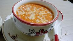 Juthika Foods: TOMATO MACARONI SOUP Delicious Recipes, Yummy Food, Crispy Potatoes, Home Food, Cheeseburger Chowder, Macaroni, Soup, Pudding, Foods