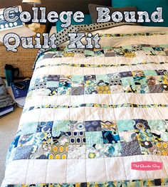 College Bound Quilt Kit by Pat Bravo Featured in Sew-it...today Magazine August/September 2013 issue - Fat Quarter Shop
