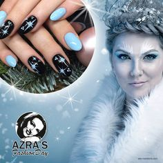 "abc nailstore präsentiert:  Azra's Fashion Day: the snow queen Nailart ""fairy tale winter""  #snow #winter #christmas #nails #naildesign"
