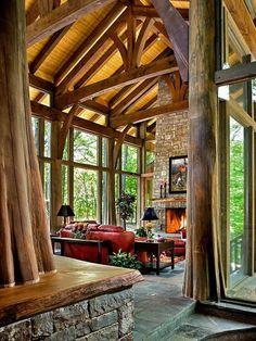 #interior #living #home #inspiration #tree #wood