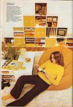 Habitat 1973 Annual Catalogue Bean Bag Design, Mid Century Modern Furniture, Habitats, Mid-century Modern, Cube, Catalog, The Past, Graphic Design, Retro