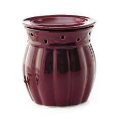 """SCENTS OF HOME™ - BERRY FRAGRANCE WARMER  Disperses fragrance throughout your home and recreates the glow and ambience of candlelight without flames (gel sold separately). 25 watt bulb included. 5¼ x 5½""""  Item: 93319  $30.00"""