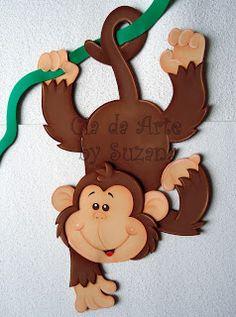cia da arte: Meus bichinhos cutes! Jungle Theme Classroom, Jungle Theme Birthday, Safari Theme, Classroom Decor, Kids Crafts, Foam Crafts, Diy And Crafts, Paper Crafts, Decoration Creche