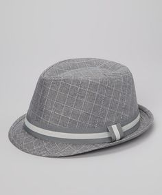 Take a look at this Gray Plaid Fedora by vfish on #zulily today!