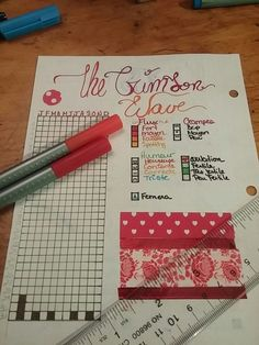 Period tracker, ovulation and all about girl power ;) Yeah, the washi tape is not perfect but I used it to hide an ink spot