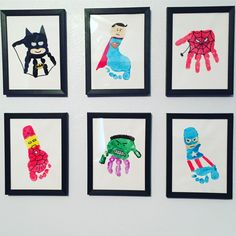 DIY superhero wall art using toddler handprints & footprints. This makes a great Father's Day gift as well! DIY superhero wall art using toddler handprints & footprints. This makes a great Father's Day gift as well! Diy Father's Day Gifts Easy, Great Father's Day Gifts, Father's Day Diy, Superhero Wall Art, Superhero Gifts, Fathers Day Art, Fathers Day Crafts, Daycare Crafts, Baby Crafts