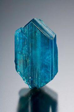 Caledonite 1.2cm x .6cm from Reward Mine, Inyo Co., CA.  Jeff Scovil Photo
