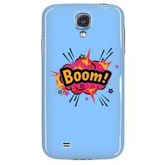 BOOM! Red Cloud Galaxy S4 cell phone case (Sky Blue)