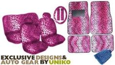 Animal Print Auto Car Truck Set Pink Leopard Seat Covers http://www.thecarmania.com/best-girly-car-seat-covers/