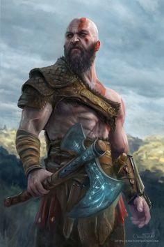 God of War Kratos by Jorsch Two.fucking dayyssssssss - - Ideas of - God of War Kratos by Jorsch Two. Character Portraits, Character Art, Character Design, Vikings, Fantasy Warrior, Fantasy Art, Tableau Star Wars, Kratos God Of War, Marvel
