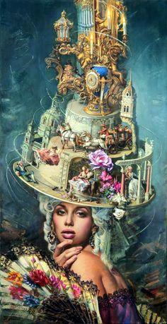 Paintings by Moldovan artist Oleg Turchin