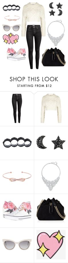 """Suggestions"" by totalloser ❤ liked on Polyvore featuring H&M, DKNY, Dsquared2, Ted Baker, Swarovski, Converse, Karen Millen, Fendi and Big Bud Press"