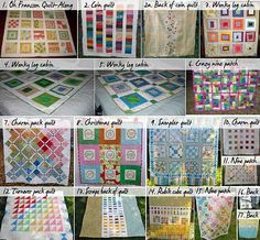 Free quilt patterns and tutorials- great stash busters! ...i seriously think that when im pregnant, im going to quilt things and make things for my baby whenever im not at work