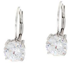 Diamonique 3.00 cttw Leverback Earrings, Sterling - J331489