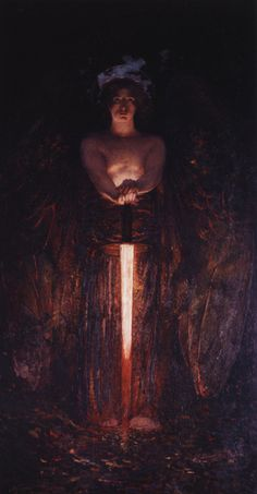 Edwin Howland Blashfield -The Angel With The Flaming Sword