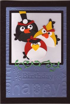 Angry Birds by stampandshout - Cards and Paper Crafts at Splitcoaststampers Making Greeting Cards, Greeting Cards Handmade, Bird Cards, Scrapbook Cards, Scrapbooking, Punch Art, Homemade Cards, Stampin Up Cards, I Card