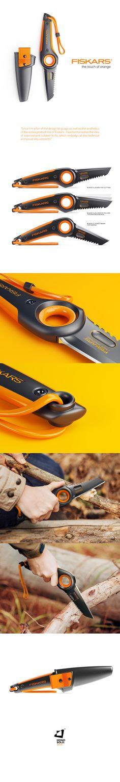 """다음 @Behance 프로젝트 확인: """"FISKARS OUTDOOR KNIFE"""" https://www.behance.net/gallery/42825903/FISKARS-OUTDOOR-KNIFE"""