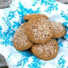 Gluten free cookies with garbanzo bean flour, brown rice, almond butter, coconut milk. Low fat, Weight Watchers, South Beach Diet sugar free cookie.