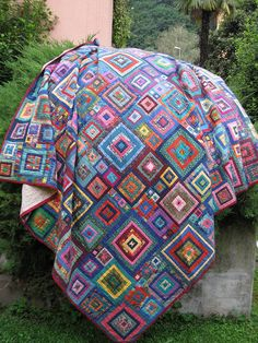 Kaffe Fassett jewel squares. Caty 2006 by Peoniagialla, via Flickr